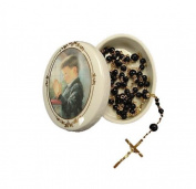 Kathryn Fincher Communion Boy Porcelain Keepsake Box With Rosary