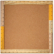 Sugarbooger Living Goods Frame Bulletin Board with Cork, Ruler