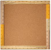 Sugarbooger Living Goods Frame Bulletin Board with Cork, Ruler