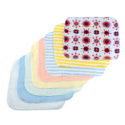 Arshiner Baby Wash Handkerchief Multicolor Feeding Wipe Cloth Baby Towel, 8 Count