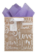 The Gift Wrap Company Medium Recycled Gift Bags, Baby Wishes