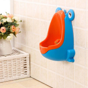 Frog Children Potty Toilet Training Kid Urinal for Boy Pee Trainer Bathroom Blue