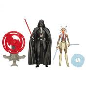 Star Wars Rebels 9.5cm Figure 2-Pack Space Mission Darth Vader and Ahsoka Tano