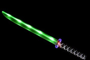 Ninja Sword Toy Light-Up (LED) Deluxe with Motion Activated Clanging Sounds - Green