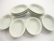 10 x35 mm White Oval Soup Bowl Dolls House Miniature Ceramic Supply 10840