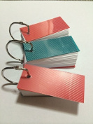 Mini Blank Flash Cards with Binder Ring - 1.3 X 2.8 Set of 3 Decks, 110 Cards Each