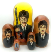 Beatles Russian Nesting dolls 5 piece DOLL Set 18cm Tall