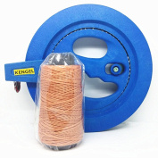KENGEL® Blue Kite Ballbearing Reel Line Winder Grip Wheel + 200m Tyre Line Kite Flying Combos