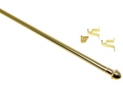 Classic Touch Cafe Curtain Rod, Gold, 28-120cm
