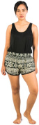 Lofbaz Women's Funky Summer Elastic Waist Mini Shorts