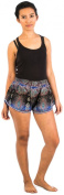 Lofbaz Women's Oval Printed Summer Elastic Waist Mini Shorts