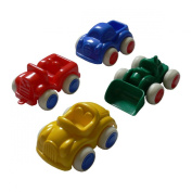 Hobla 500-12 Cars Set of 4 flexible plastic cars with fabric wheels, 11 cm