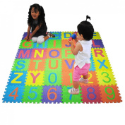 JJOnlineStore - Soft Alphabet Number Baby Children Foam Puzzle Play Mat Jigsaw (A-Z & 0-9) - 15 x 15cm