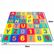 JJOnlineStore - Soft Alphabet Number Baby Children Foam Puzzle Play Mat Jigsaw (A-Z & 0-9) - 30 x 30cm