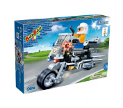 Banbao - 140 Piece Police Motorbike Compatible with the Leading Brand - Boy Boys Child Kids - Ultimate Construction Building Blocks Christmas Xmas Present Gift Age 5+