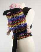 Palm and Pond Mei Tai baby carrier - Bright Zigzag