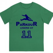 """Boys """"Parkour Legend at 28cm Birthday T Shirt Gift for Aspiring Free Running Enthusiasts"""