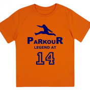 "Boys ""Parkour Legend at 36cm Birthday T Shirt Gift for Aspiring Free Running Enthusiasts"