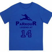 """Boys """"Parkour Legend at 36cm Birthday T Shirt Gift for Aspiring Free Running Enthusiasts"""