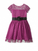 Blush by US Angels Violet Lace Dress with Cap Sleeve