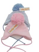 BNWT Boys or girls warm winter large pom pom knitted hat 0-12 & 12-18 months