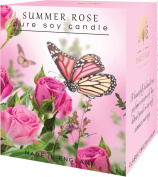 Luxurious Summer Rose Pure Soy Candle Christmas Birthday Valentine Gift