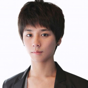 Rise World Wig Cool Mens Boys Short Straight Black Hair Wigs Party Heat Resistant Cosplay Wig