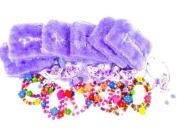 6 GIRLS Princess Party Bag Fillers Loot Hair Bobbles Fairy Bracelets Jewellery