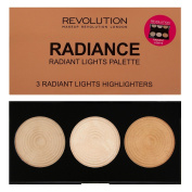 Makeup Revolution - Highlighter Palette - Radiance - 3 Baked Highlighters Illuminators