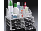 6 DRAWER MAKEUP JEWELLERY ACRYLIC COSMETIC DISPLAY STORAGE ORGANISER HOLDER BOX