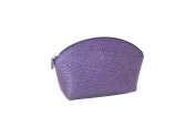 Leather Make-up Bag by Laurige - Aubergine
