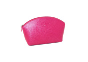 Leather Make-up Bag by Laurige - Fuchsia