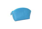 Leather Make-up Bag by Laurige - Turquoise