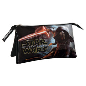 Star Wars The Force Awakens Vanity Three Compartments Beauty Case, 22 cm, 1.32 L, Black