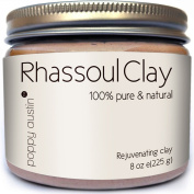 Rhassoul Clay Hair and Facial Mask (Ghassoul) by Poppy Austin®. Voted Best Deep Pore Facial Cleanser, Blackhead Remover and Pore Minimizer 2015. A 100% Organic All Natural Face Wash & Clay Mask, 240ml