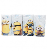 8x Minions Themed 10 x 3 Ply Paper Pocket Handbag Plain White Tissues High Quality Soft Strong Kelvin (The Leader), Stuart (The Rebel) The Trio (Villain-con), Bob