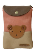 Cute Leather Teddy Bear Bag with Removable Shoulder Strap