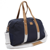 FAGUO - Overnight Bags - Men - Navy Canvas/Suede 48 Hr Bag for men - TU