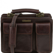 Tuscany Leather Men's Briefcase Leather Dark Brown