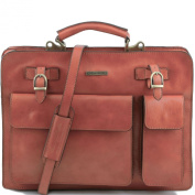 Tuscany Leather Honey Leather Briefcase for Men