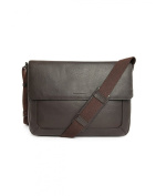 LE TANNEUR - Shoulder Bags - Men - Brown Bruno Grained Leather Shoulder Bag for men - TU