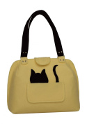 o The Party Cat o Handmade Wool Felt Hand Bag Schoulder Bag