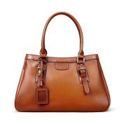 Meijia Women's Soft Genuine Leather Tote Shoulder Bag