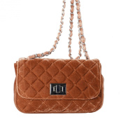 Bag Cassandra beige velvet, dimension in cm