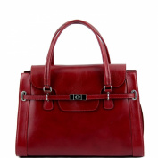 Tuscany Leather Shoulder Bag-Leather-Red