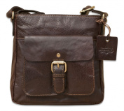 Brunhide Genuine Buffalo Leather Womens Small Satchel Style Compact Shoulder Bag # 144-300