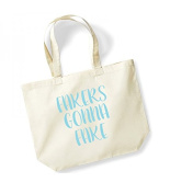 Large Tote Bag 'Fakers Gonna Fake' - Canvas Fun Taylor Music Slogan Travel/Shopper/Beach/Gym Bag