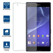 Beiuns Tempered Glass Screen Protector Ultra-Hard for Sony Xperia T2 Ultra (screen