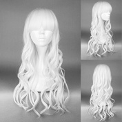 Ladieshair Cosplay Wig - Curly - Approx. 60 cm - White
