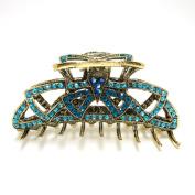 Top Quality Womens Rhinestone X-Large Metal Claw Hair Clip (blue,white,purple,brown)